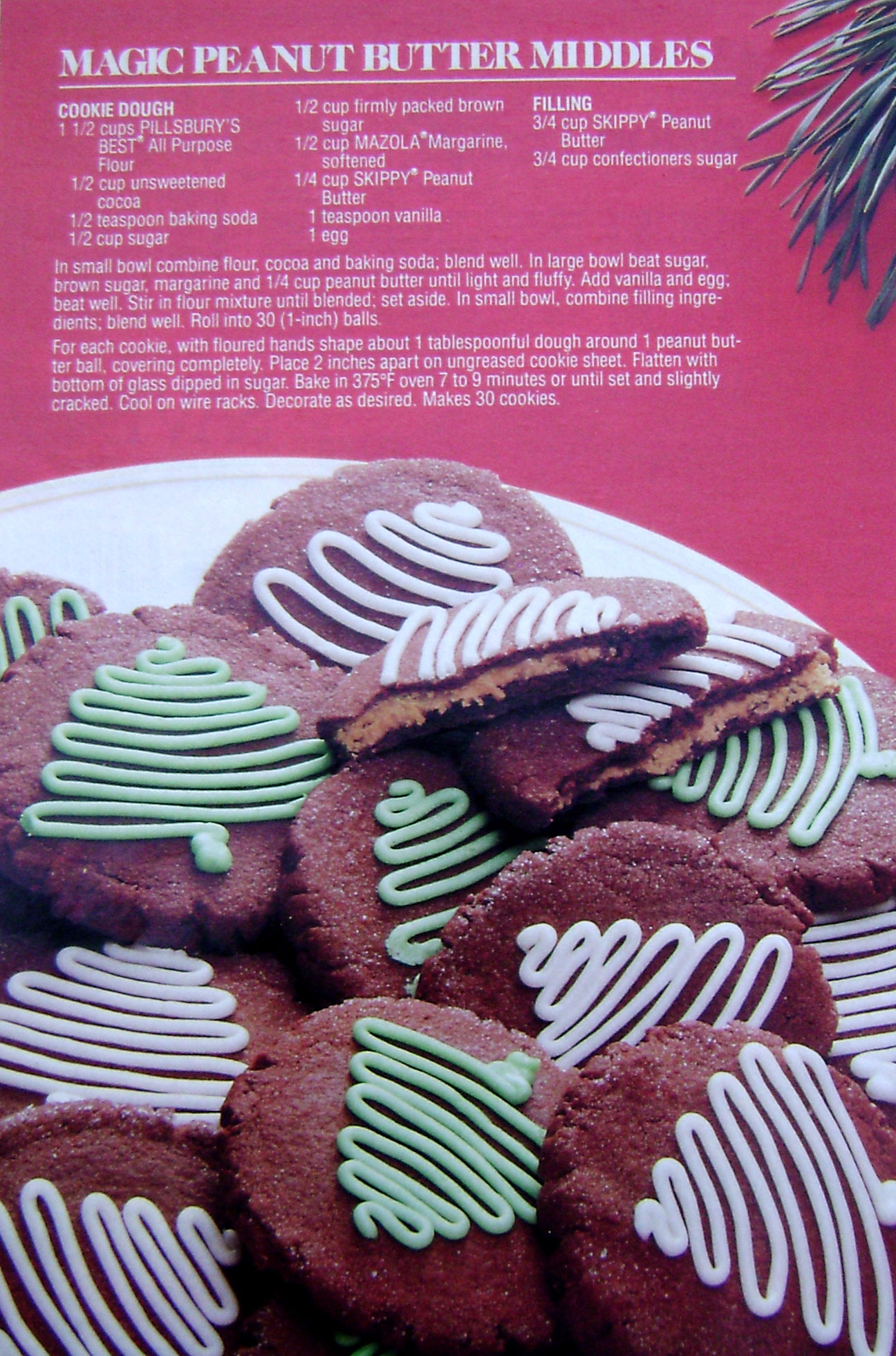 Magazine clipping of Magic Peanut Butter Middles Cookie recipe