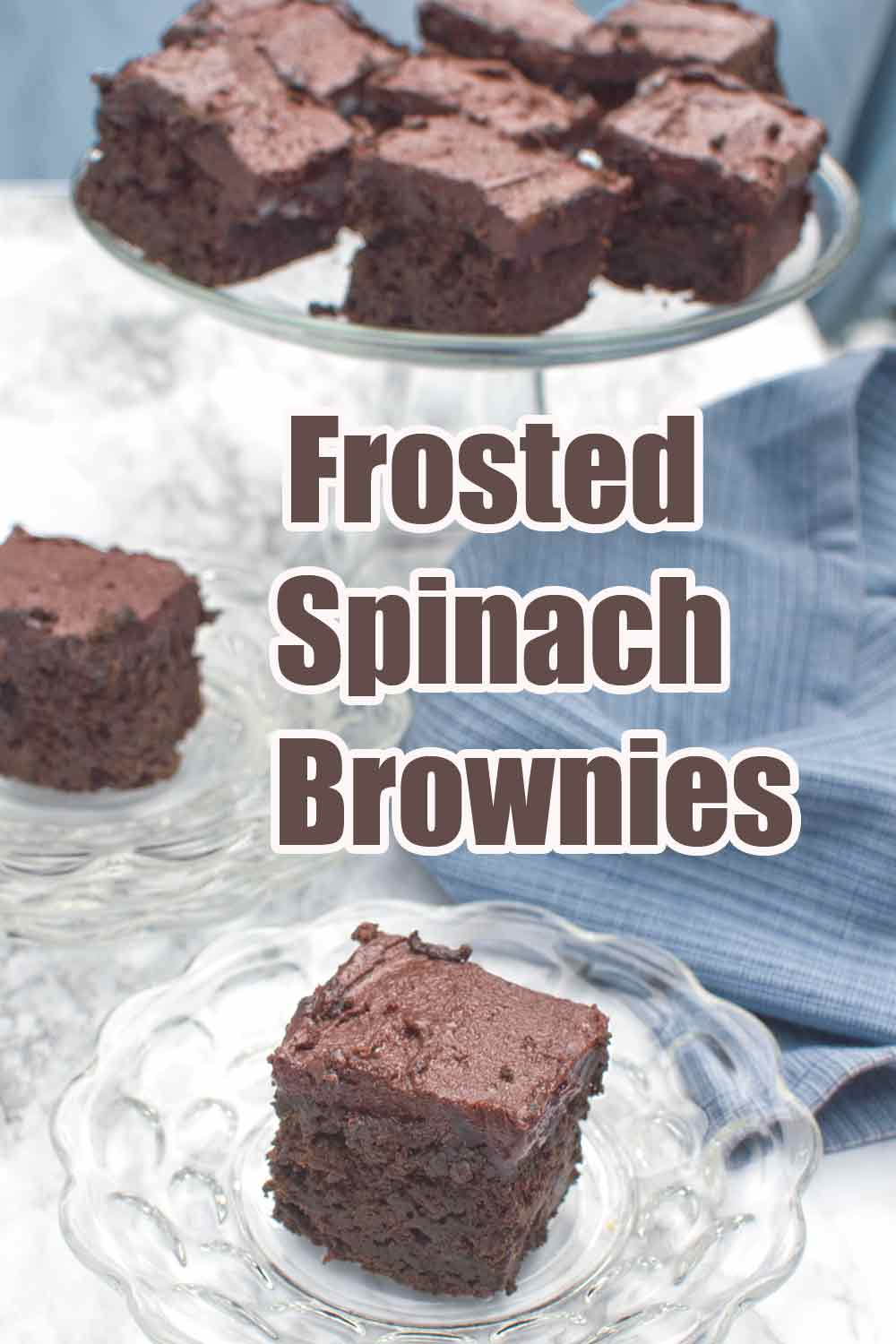 Frosted Spinach Brownies