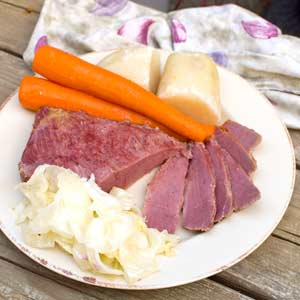 Corned Beef Dinner in Slow Cooker