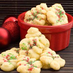 Lemon Cookie Press Cookies