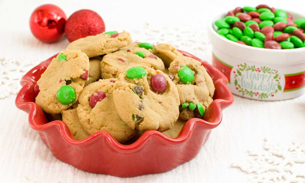 Peanut Butter Cookies with Chocolate Candy