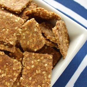 Sesame Whole Wheat Crackers