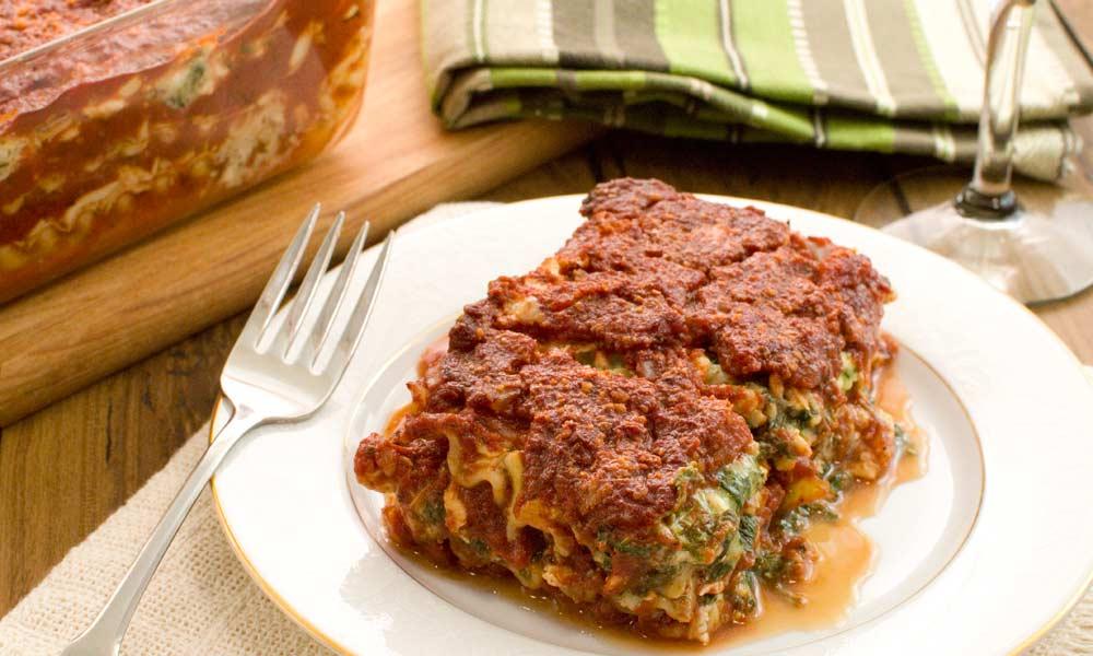 Easy Spinach Lasagna