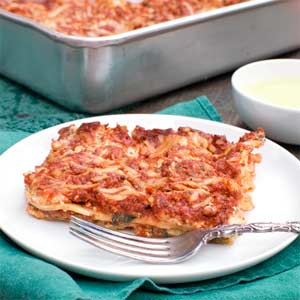 Lazy Spinach Lasagna
