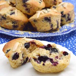 Blueberry Lemon Almond Muffins