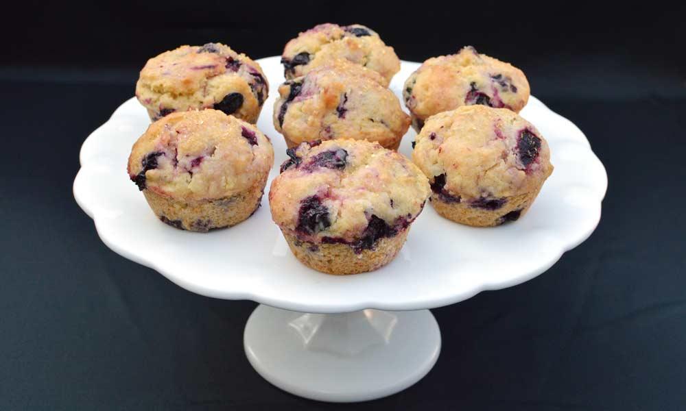 Blueberry Lemon Oat Muffins