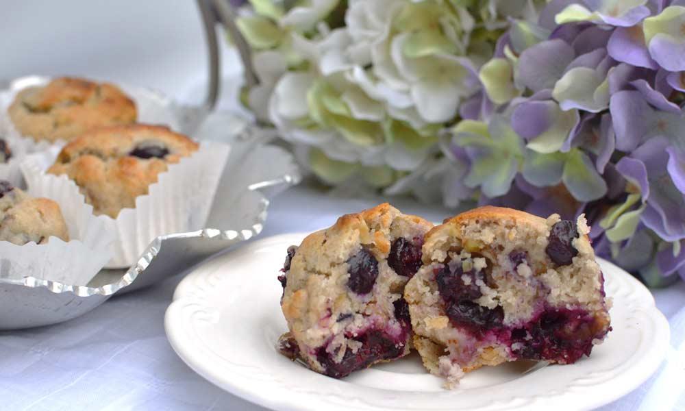 Blueberry Walnut Muffins