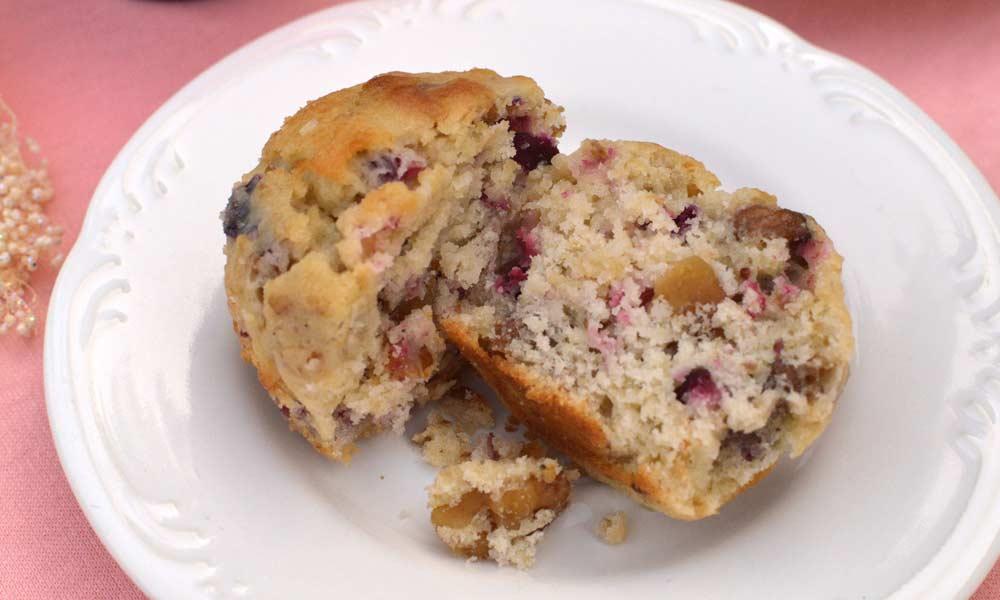 Cranberry Peach Muffins