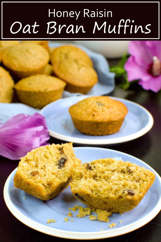 Honey Raisin Oat Bran Muffins