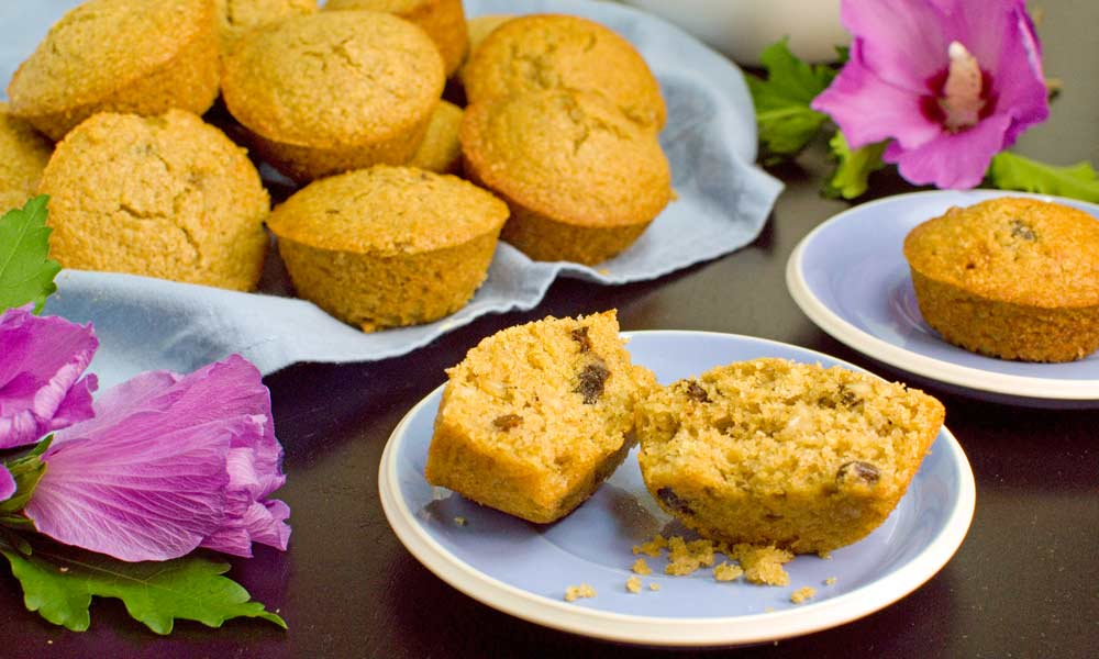 Honey Raisin Oat Bran Muffins