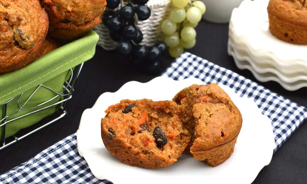Raisin Carrot Muffins