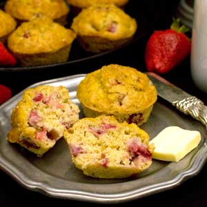 Strawberry Orange Oat Muffin