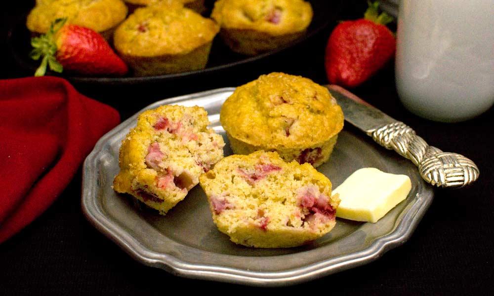 Strawberry Orange Oat Muffin