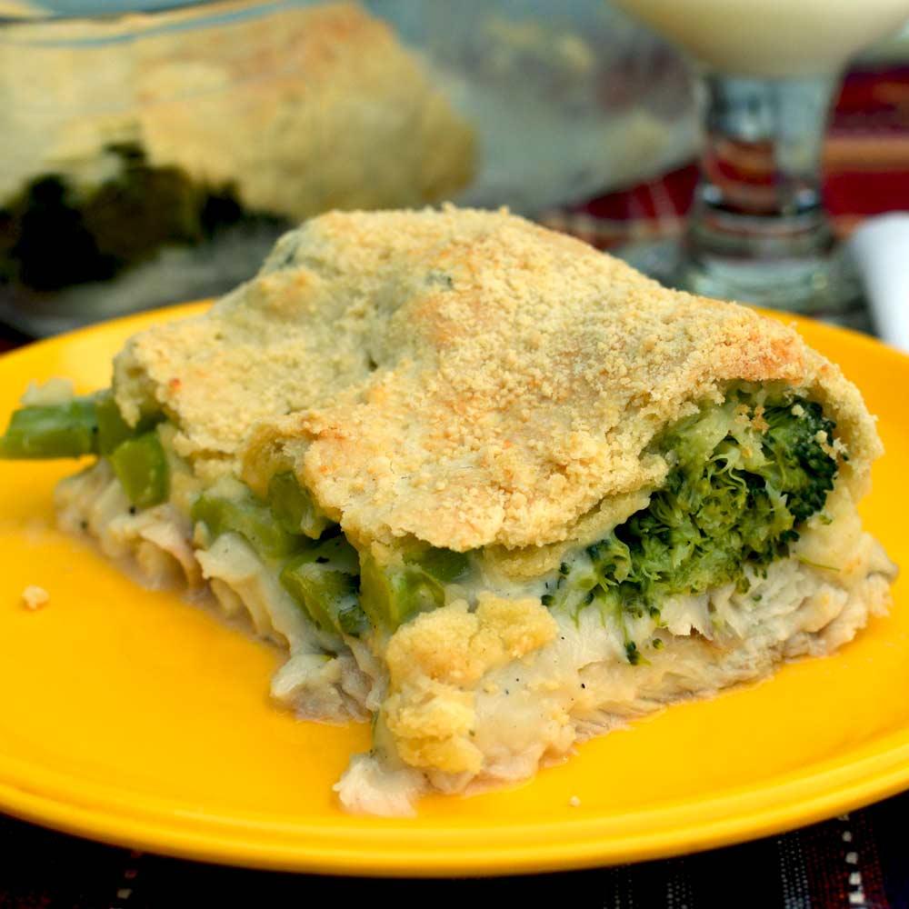 Saucy Broccoli and Fish Bake