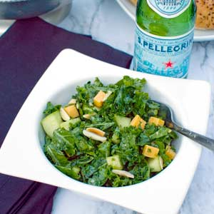 Kale Apple Cheddar Salad