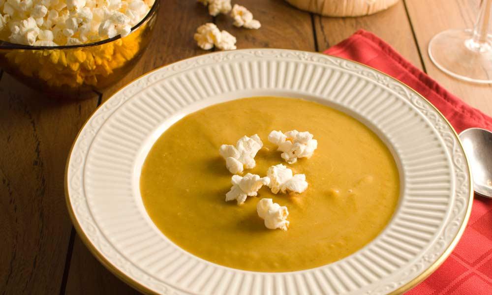 Pumpkin Popcorn Soup