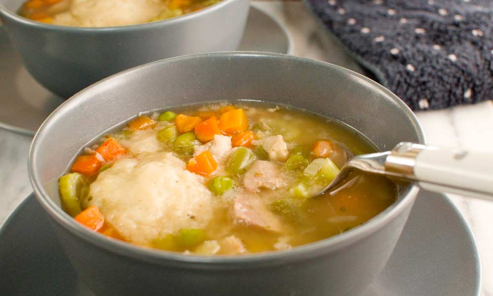Turkey Vegetable Dumpling Soup